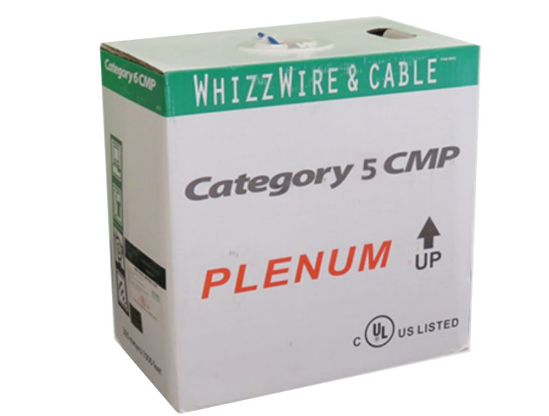 JECB-CAT5E-PLM-W GIGA Cat5e FT6 Plenum Cable 1000ft.