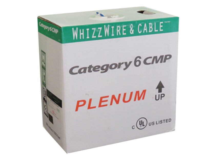JECB-CAT6-PLM-W/BL GIGA Cat6 FT6 Plenum Cable 1000ft.