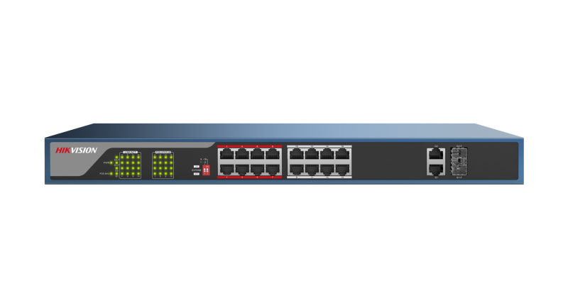 Hikvision DS-3E0318P-E 16-ports+2 100Mbps Unmanaged PoE Switch