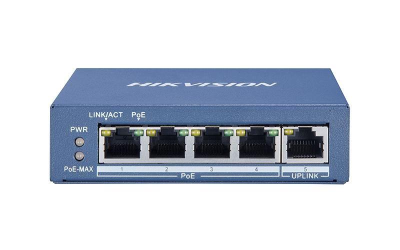 Hikvision DS-3E0505P-E 4-Port Gigabit Unmanaged PoE Switch