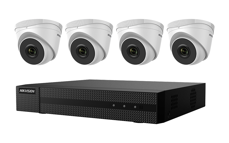 EKI-K41T44 - Hikvision 4K 4-Channel Value Express Kits(NVR-1TB + 4 Cameras)
