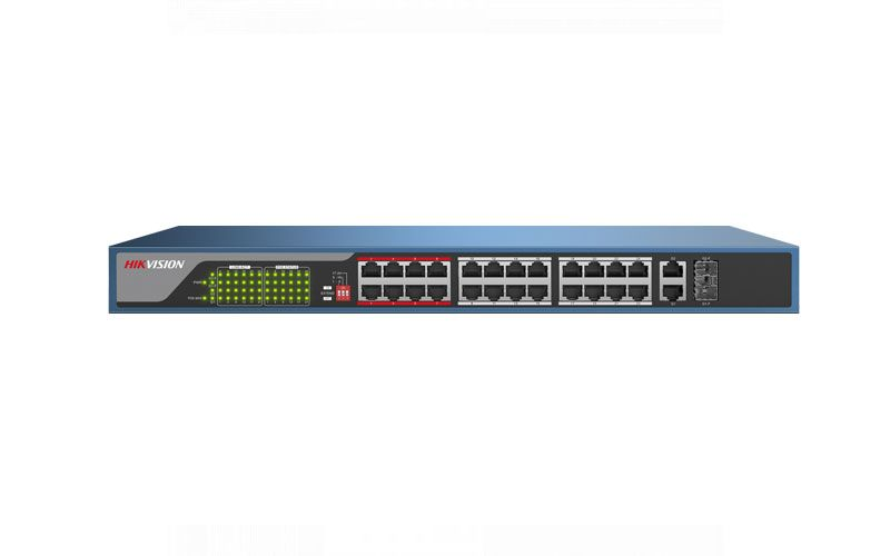 Hikvision DS-3E0326P-E2 24 + 2 Giga POE Switch 370W 100Mbps Unmanaged PoE Switch